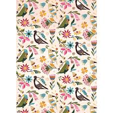 bird wrapping paper folded wrapping paper birds blooms andrea smith