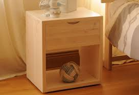 Tall Bedside Tables by Tall Cube With Drawer Bedside Table Feelgood Eco Beds