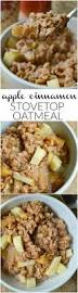 apple cinnamon stovetop oatmeal sugar dish