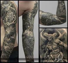 And Demons Sleeve Tattoos Pinteres