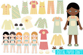 paper doll digital paper doll cut out doll printable doll
