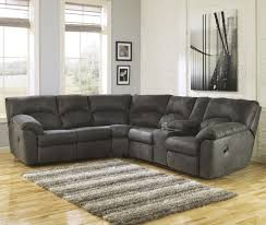 ashley furniture home theater seating 2 piece reclining corner sectional with center console by