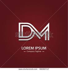 abstract logo design combinations letter d stock vector 660607117