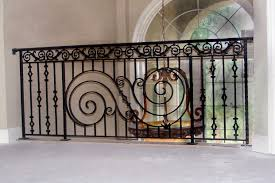 sweet wrought iron balcony railings with green stained wrought