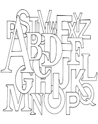 alphabet coloring pages interest alphabet color pages at best all