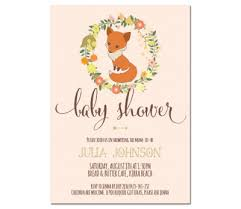babyshower invitations fox baby shower invitations