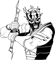 darth maul coloring pages printable pictures 9980