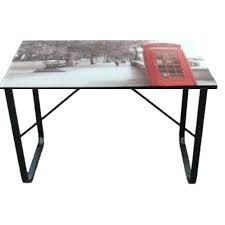 plateau de bureau en verre sérigraphié table bureau verre best bureau en verre trempac bureau table en