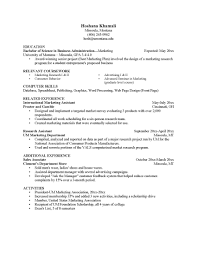 Market Research Resume Examples by Copy Of A Resume Format