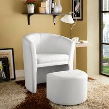 barrel chair with ottoman barrel accent chairs birch lane