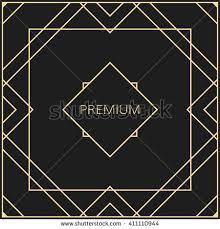 Art Deco Design Elements Vector Geometric Frame Art Deco Style Stock Vector 383571202