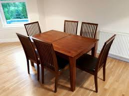 debenhams dark wood dining table u0026 6 chairs in bearsden glasgow