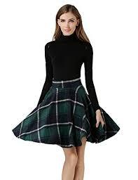 Wool Skirts For Winter Women U0027s Plaid Skirt Amazon Com
