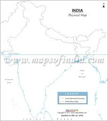 map of be free india outline map physical