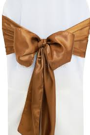 wholesale chair sashes copper satin chair sashes bows ties wholesale