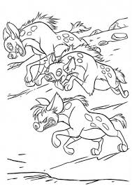 coloring page lion hyena running in the lion king movie colouring page colouring pics