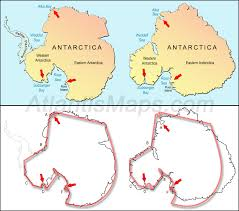 7 Continents Map The Antarctica Maps