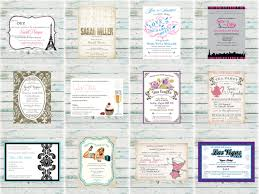 engaging diy mad hatter tea party invitations features party dress