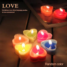 6pcs romantic heart shaped scented tealight candle fragrance aroma