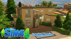 home garden design youtube sims 4 house building garden mansion youtube