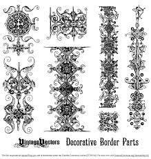decorative borders elements free vector