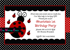 ladybug first birthday invitations afoodaffair me