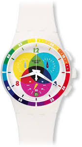amazon com swatch unisex susw404 chromograph analog display