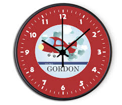 personalized clocks with pictures airplane personalized childrens decorative wall clock plane wall