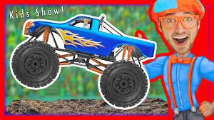 monster truck videos please monster trucks for kids with blippi u2013 educational videos for