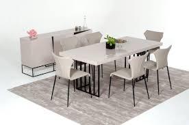 Gloss Dining Tables Modrest Modern Grey Gloss Dining Table