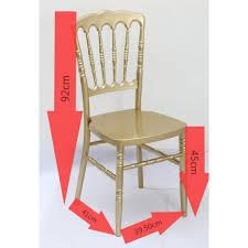 chaise dorée 126 events chaise napoleon dorée polycarbonate 126 events