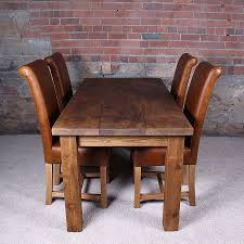 Chunky Rustic Dining Table Real Solid Wood Dining Table Table Design Extending Solid Wood