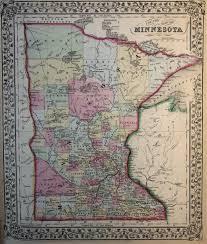 Map Minnesota Map Of Minnesota 1869