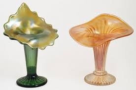 Jack In The Pulpit Vases Fine Rib Footed