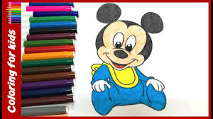 coloring sheets for kids how to color baby mickey mouse coloring