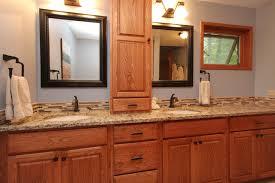 bathroom cabinets designs bathroom traditional bathroom ideas with oak cabinets tile and