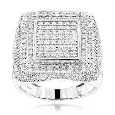 diamond rings square images 14k gold square mens diamond ring 2 ct hip hop rings jpg