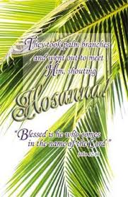 palm branches for palm sunday sunday they took palm branches bulletin letter