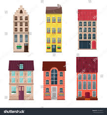 Stylish House Houses Icons Flat Style Isolated On Stock Vector 431688721