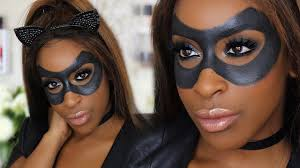 easy diy catwoman halloween makeup youtube
