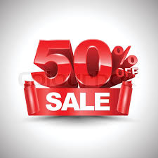 discount ribbon 3d vector shiny discount 50 percent and sale on ribbon