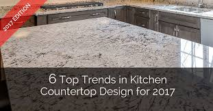 6 top trends in kitchen countertop design for 2017 home