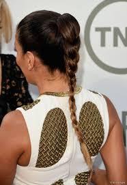 how to recreate eva longoria u0027s wet look braided ponytail hairstyle