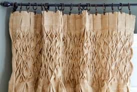 Smocked Burlap Curtains Smocked Burlap Curtains Giveaway Thistlewood Farm