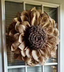 burlap sunflower wreath crafty morning burlap sunflower wreath find it here