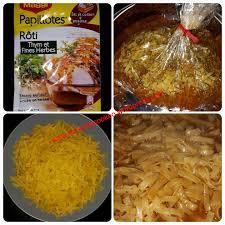 astuce cuisine rapide pâtes en papillote thym fines herbes recettes cookeo