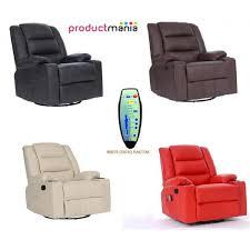 quality pu leather cinema massage sofa recliner chair swivel heat