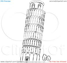 leaning tower of pisa clipart many interesting cliparts