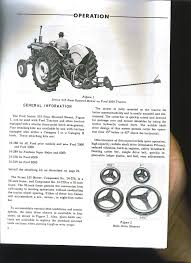 100 ford 3000 4000 5000 owners manual new holland wiring