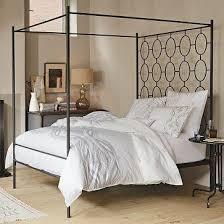 Metal Canopy Bed Black Steel Frame Canopy Bed